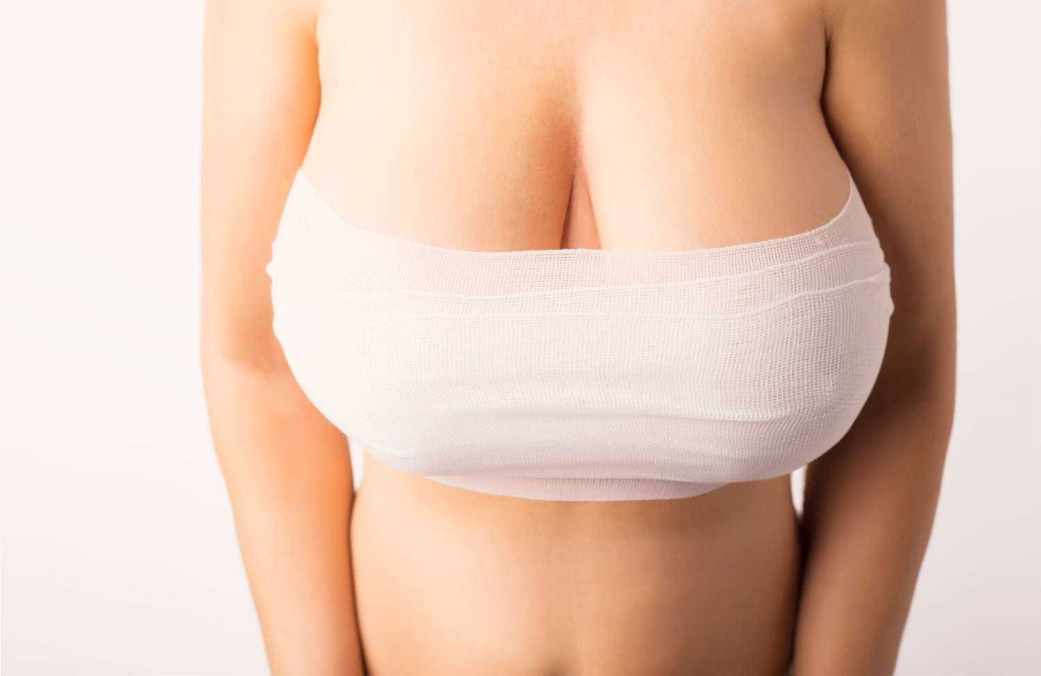 Stiffness in the shoulder after breast implant surgery