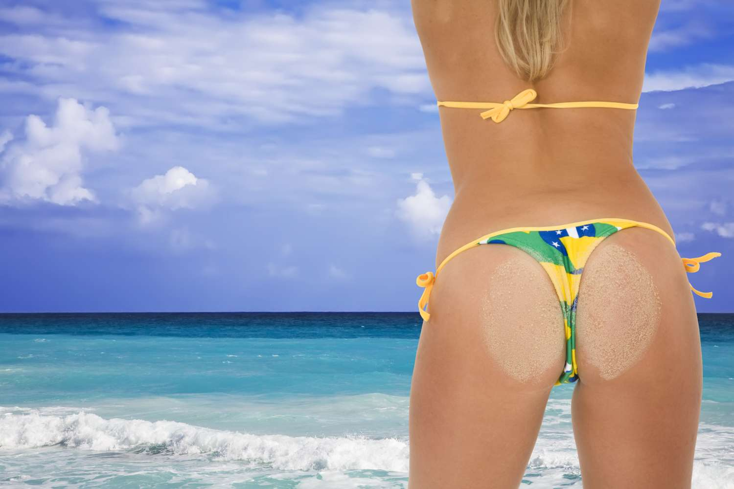 Your skin tone and buttock projection
